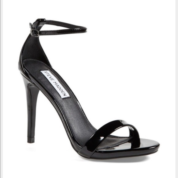 fb42b2d947 Steve Madden Shoes | Strappy Heels Black Patent | Poshmark